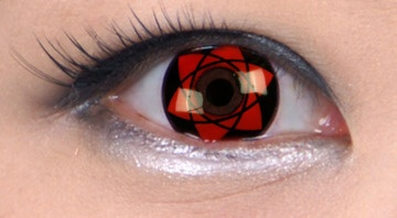 ❤❤ Sasuke Uchiha Mangekyou Sharingan Contacts - for my upcoming Halloween cosplay.
