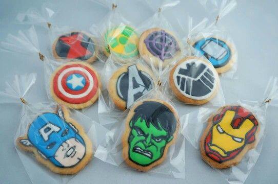 Marvel avengers cookies