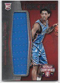 Cameron Payne 2015-16 Totally Certified Rookie Fabrics Of The Game Jerseys Red #80/199 Oklahoma City Thunder Jersey Insert Card #FRJ-CP