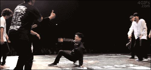 Breakdancing exit strategy