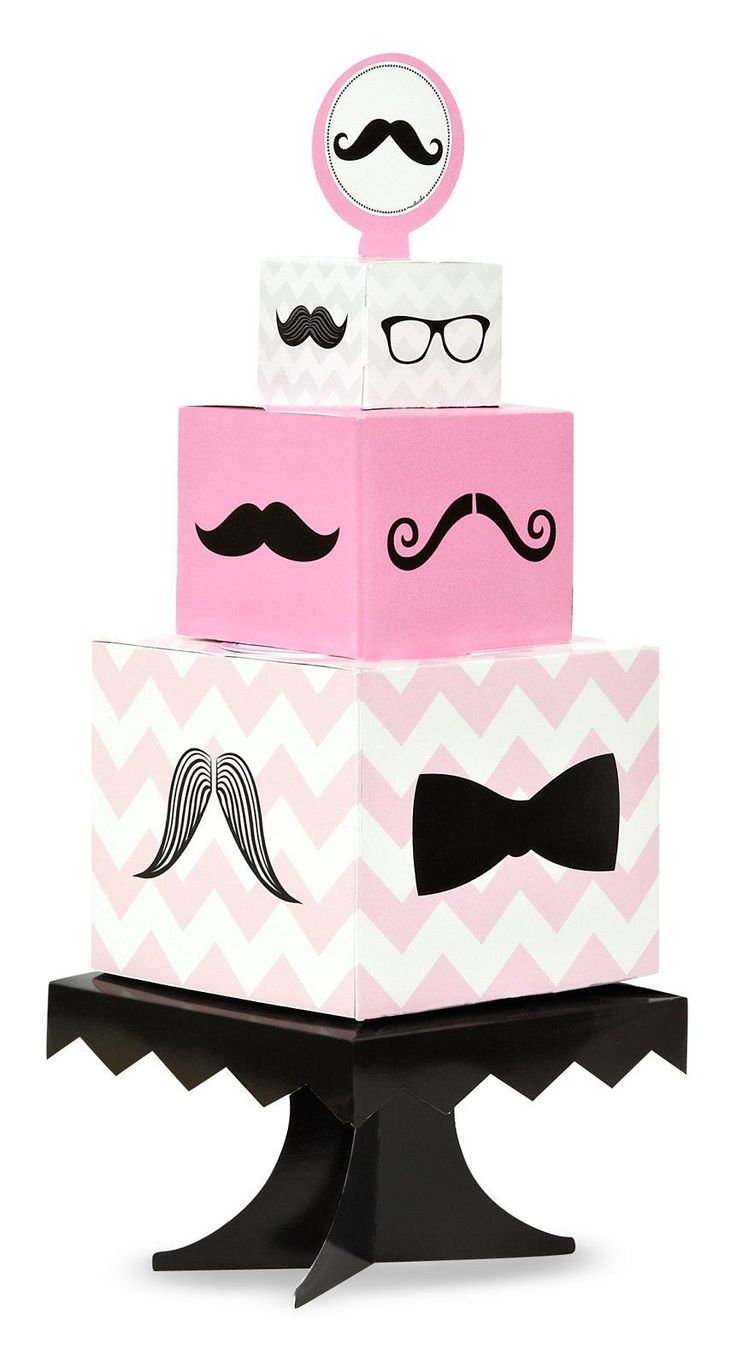 Pink Mustache Centerpiece from BirthdayExpress.com