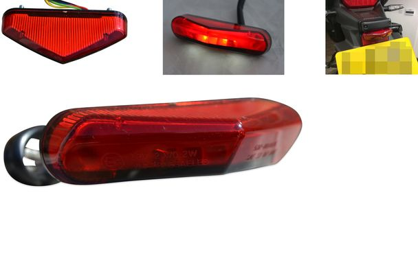 Small Motorcycle Motorbike Mini Red LED Stop Marker Lights