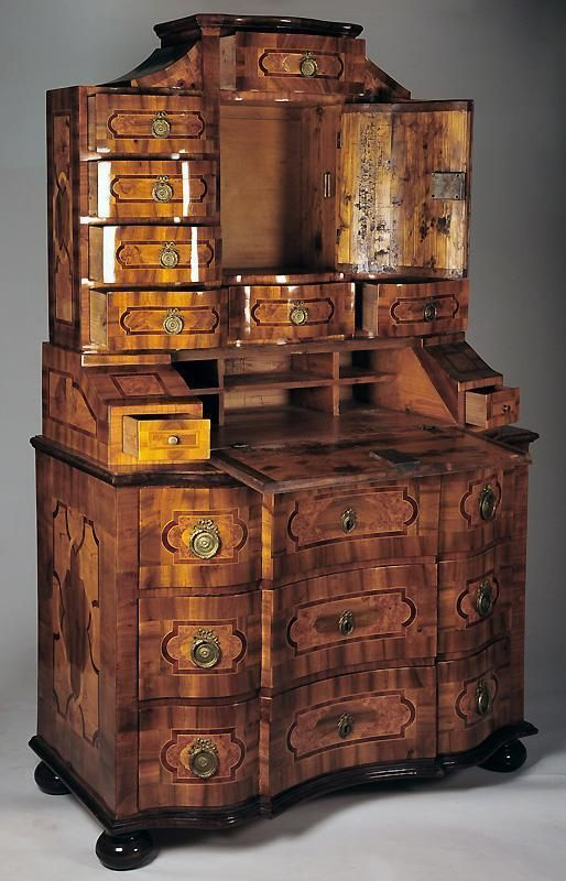 vintage antique furniture wardrobe walnut armoire. south german bronze mounted walnut parquetry secretary cabinet vintage antique furniture wardrobe armoire