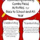 This pack is a combination of BOTH my Back to School Community Building Activities for Classbuilding AND Teambuilding.  I am offering them as a sav...