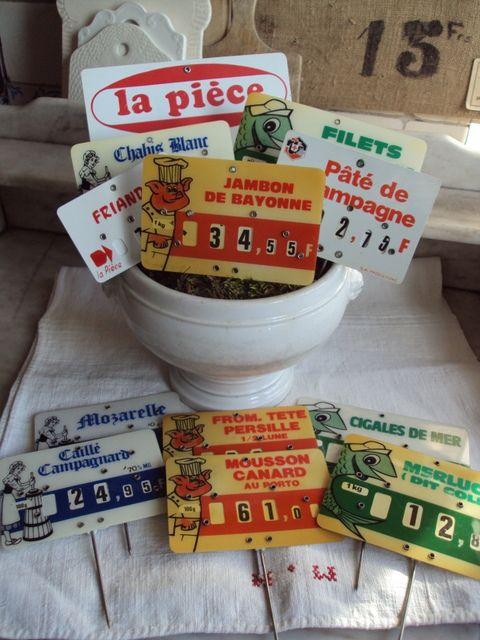 anciennes étiquettes en francs