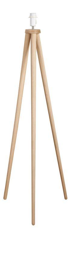 Trepied - Pie de lámpara de madera - Habitat