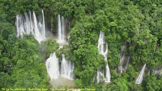 Awesome Videoshp: Thi Lo Su Waterfall ,Mae Klong River ,Tak Province...