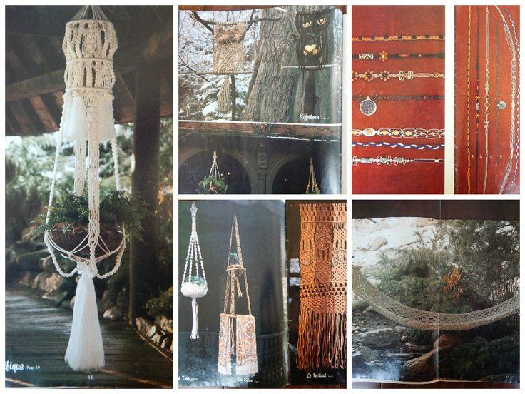 Macrame Patterns/ Vintage Macrame Elegance 2/ necklaces, plant hangers, towel hanger, hammock, wall hanging, owls, home decor, retro, hippie by RedWickerBasket on Etsy