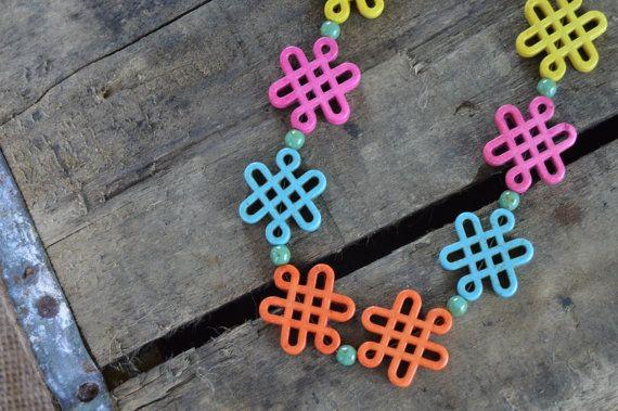 Modern Lattice Necklace by AmarisJewelry on Etsy