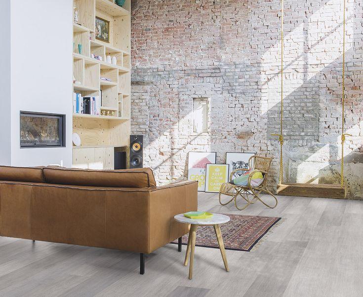 Puur natuur interieur met een laminaatvloer met authentieke eiken 'look' - Quick-Step Largo collectie