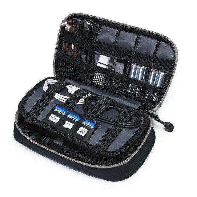 Digital Accessories Gadget Devices Organizer - Black