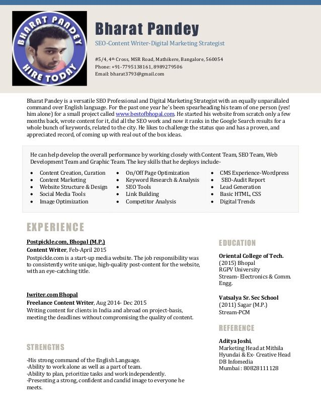 Image result for digital marketing executive resume Resume