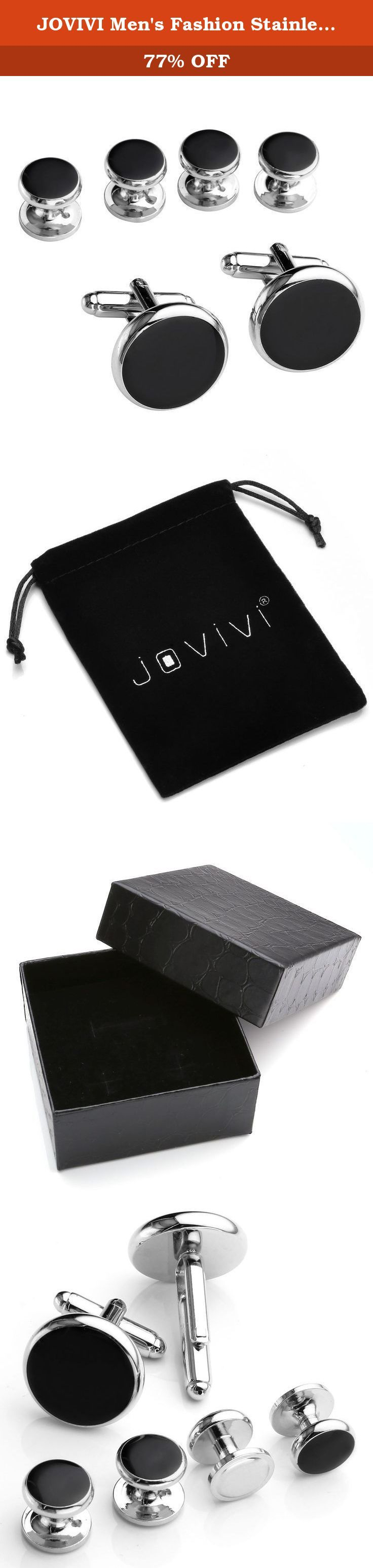 JOVIVI Men's Fashion Stainless Steel Luxurious Tuxedo Shirts Cufflinks and Dress Shirt Studs Set w/Box. *Thank you for visiting JOVIVI Store. We are specializing in jewelry making beads and findings. *If you like this product, we advise you add it to wish list now, so that we will inform you immediately once it has a discount. *And you can click our brand name which on the top of the title; you can find more jewelry making beads with high quality and reasonable price. *If you have any...