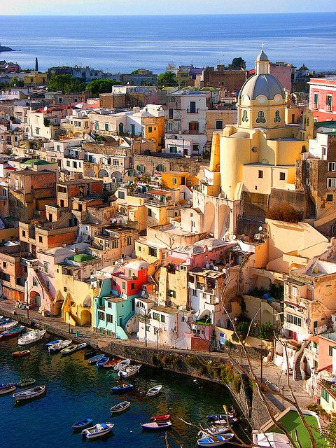 Colours of Corricella, Procida Island, Italy (by hillman54).: Colour, Beautiful Italy, Beautiful Places, Procida Island, Islands, Travel, Italy, Di Procida