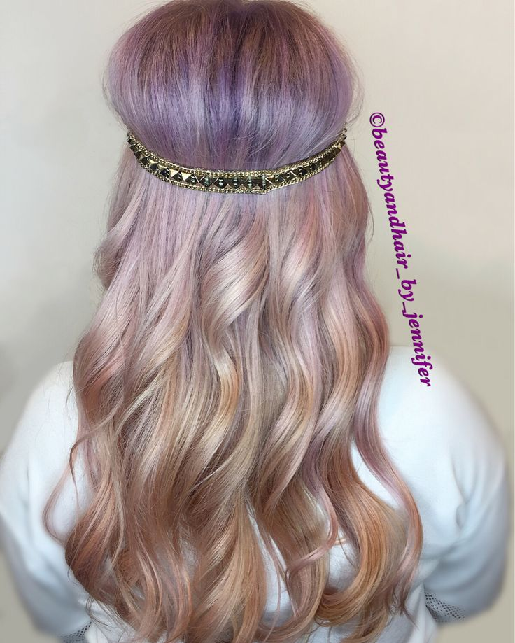 Unicorn pastel violet and peach.