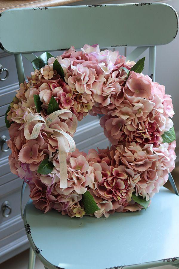 Bellinas Hortensja Bogaty Wianek Na Drzwi Sr 40cm Floral Wreath Wreaths Floral