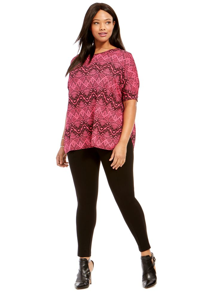 Aztec Print Batwing Top by @yoursclothing  Available in sizes 14-30