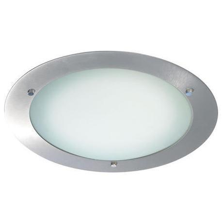 Endon - Enluce Bathroom Flush Circular Ceiling Light - Large - Brushed Steel - 540-34BS