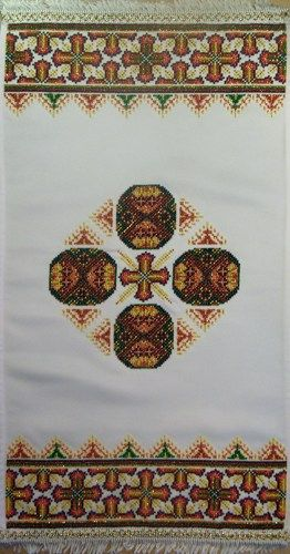 Easter Napkin Rushnyk Unique Gift Idea, DIY beaded embroidery kit