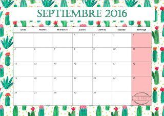 CALENDARIOS SEPTIEMBRE 2016 Cute Party: http://notonlyparties.blogspot.com.es/2016/08/fiesta-hawaiana-calendario-septiembre.html