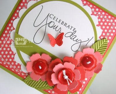 The Queen's Scene: CPS127/PDCC93 - Celebrate Your Day!: Card Idea S, Flower Card, Queen, Birthday Cards, Cards All, Cardmaking, Card Making, Card Ideas, Card Inspiration
