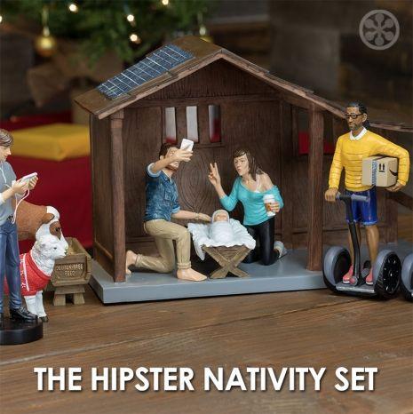 Sweet Jesus, it's a hipster nativity set. - Album on Imgur