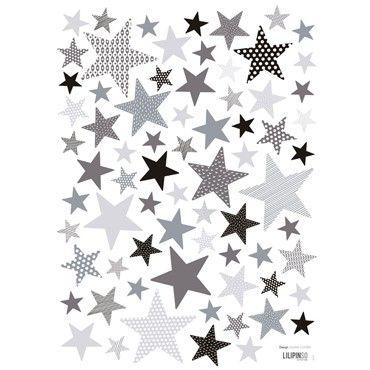 lilipinso muurstickers sterren grey