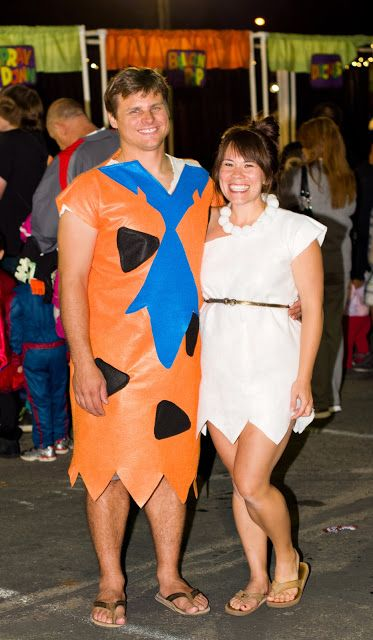 Fred and Wilma Flinstone--Couple's Halloween Costume