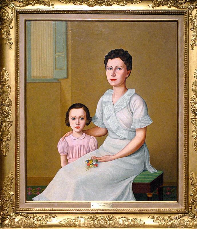 Ritratto di madre e figlia 1942 by Antonio Donghi