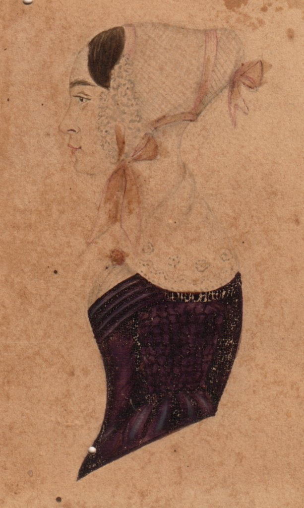 Ca. 1846 Drawing of Charlotte LOVELL, born about 1819, possibly in Somerset, England.