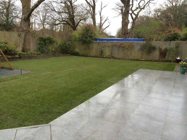 Lawn Height Recently Levelled And Then Complemented With Freshly Laid Turf.
