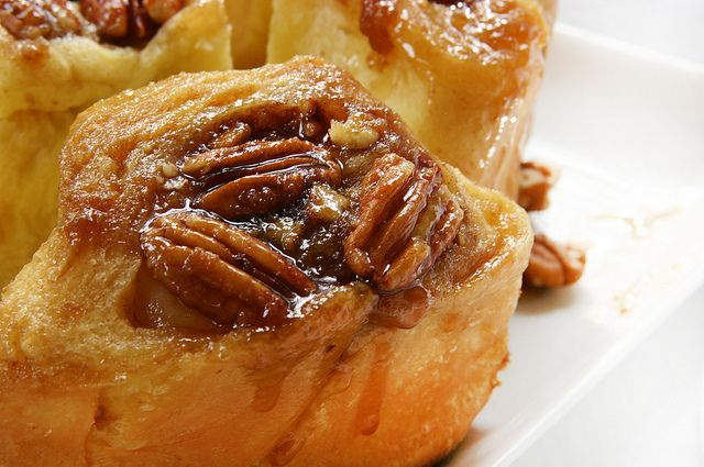 pecans sticky buns close up by local milk, via Flickr