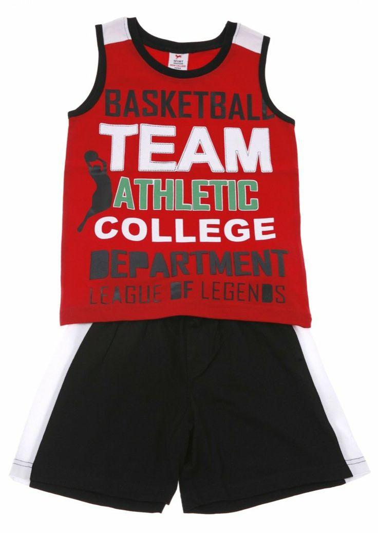 Παιδικά ρούχα AZshop.gr - New College παιδικό σετ μπλούζα-παντελόνι βερμούδα «Athletic Team» €15,00
