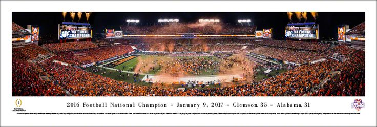 2017 CFP Panoramic Picture - College Football Playoff Championship Poster - Unframed
