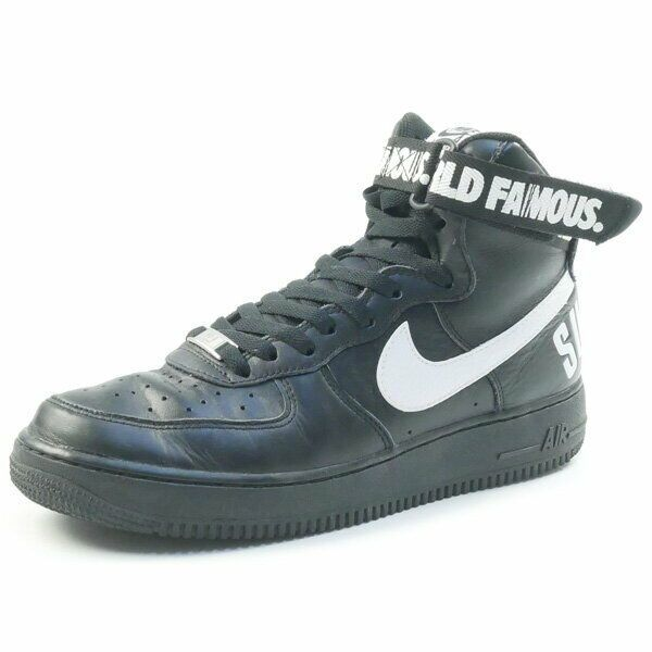 Details about SUPREME NIKE 14AW AIR FORCE 1 HIGH SUPREME SP 698696 010 sneaker BLACK US 9