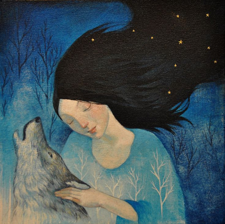 "Lucy Campbell, ""Howl"".  Branches in her body and stars in her hair. :)"