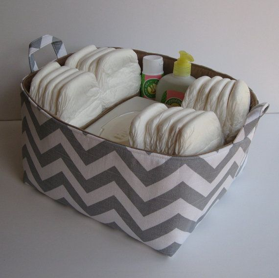 Baby Shower Gift Idea too! Chevron Diaper Caddy