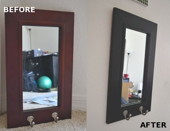 Learn how to paint a mirror frame without removing the mirror.