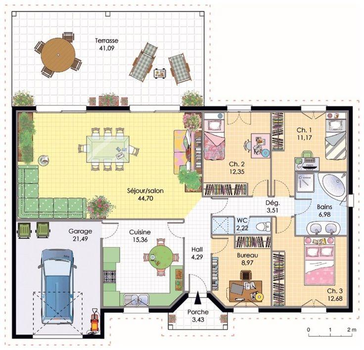 Plan-Maison-Moderne-Rectangulaire