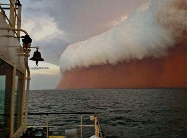 Dust storm in Western Australia
