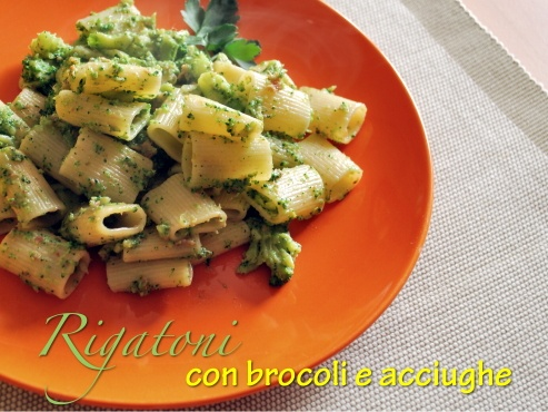 Rogatoni with brocolli and anchovies