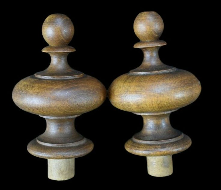 Best Details About Antique French Pair Of Wood Newel Post 640 x 480