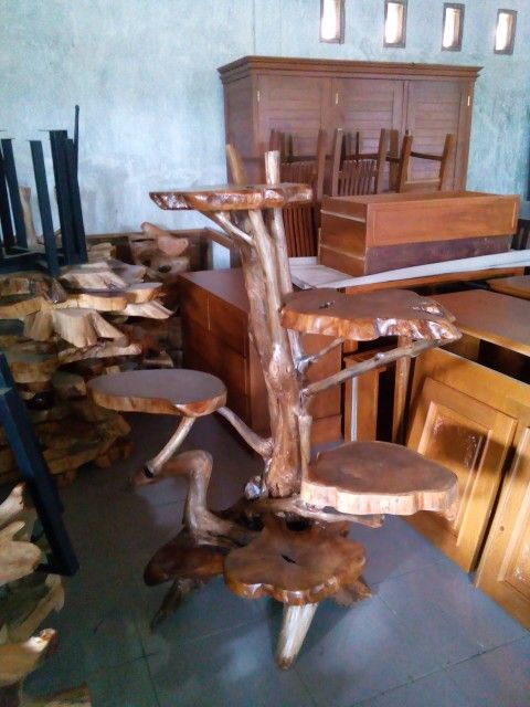 Teak root furniture - Teak root display