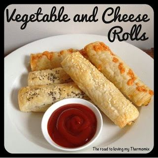 The road to loving my Thermomix: Vegetable and Cheese Rolls