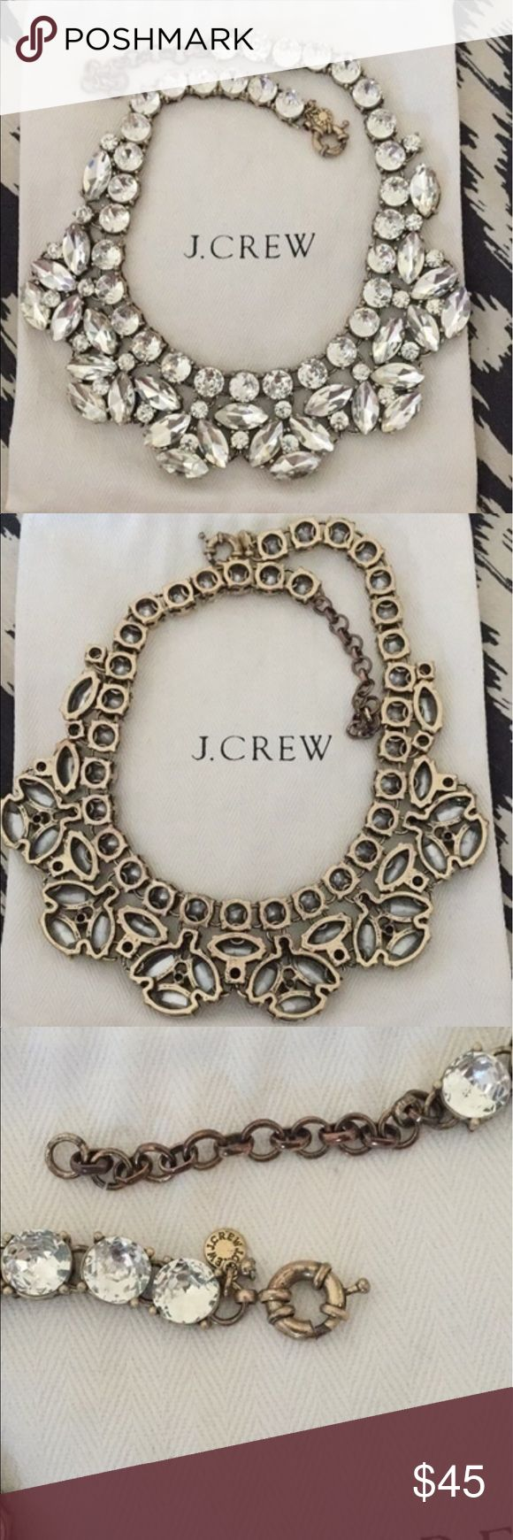 J Crew statement necklace Authentic J Crew necklace, only worn a few times and dust bag is included. J. Crew Jewelry Necklaces