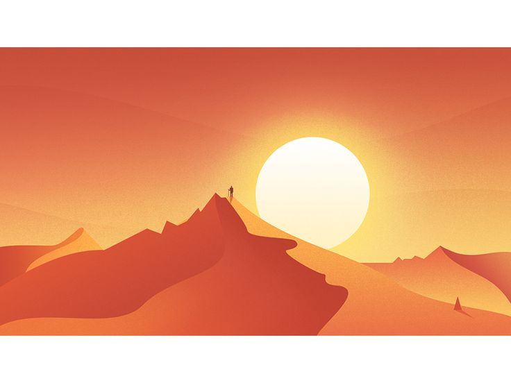 Desert Sunset by kawen