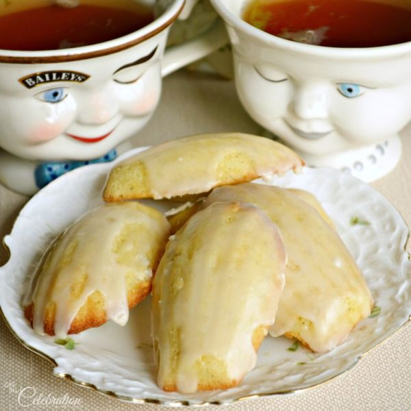 Glazed Irish Breakfast Tea Madeleines...i might try these with Earl Grey Creme tea.