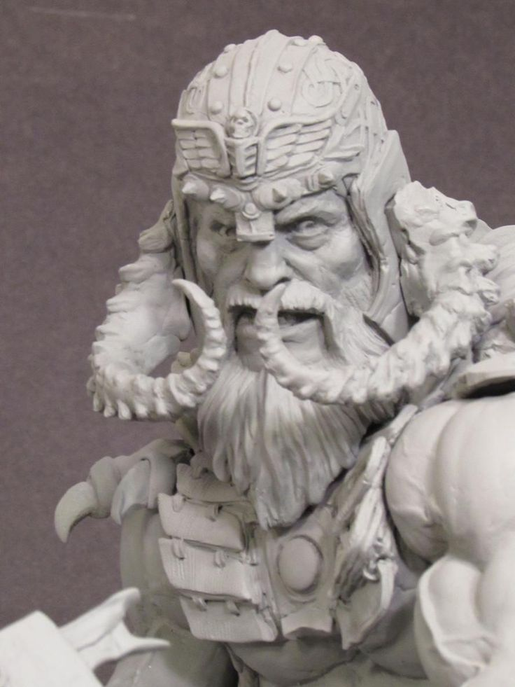 Close-up of Viking Warrior. Super Sculpey Firm. #shiflettbrothers pic.twitter.com/WbQ8WMhmPx