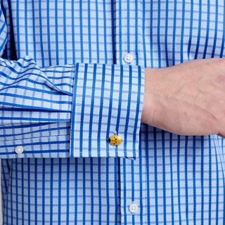 Coral Check Shirt -  Double Cuff by Thomas Pink