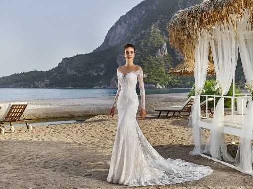 The exuberant elegance from the new Eddy K. Bali wedding dress will take your breath away.